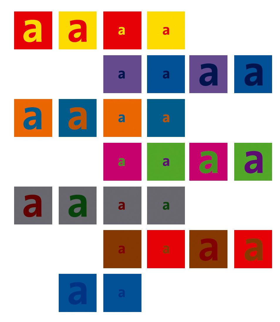 Farbe im Kontext zur Schrift