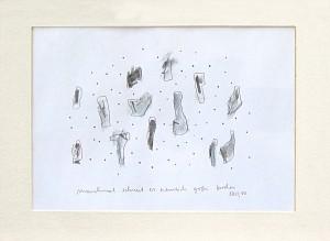 Manchmal schneit es ziemlich große Brocken, Zeichnung, Ralf K. Röttjer