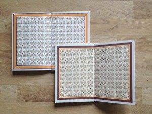 Buchgestaltung für das sanierte Altes Schloss Baruth Vorsatzpapier