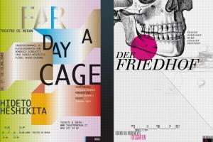 Gestaltung von Plakaten für eine Veranstaltungsreihe und Ausstellung
