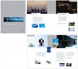 Broschüre für ein Softwareunternehmen