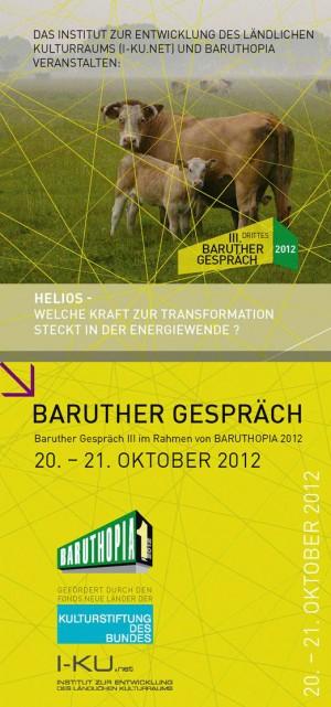Flyer Baruther Gespraech