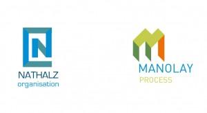 Gestaltung von Logos und Bild-Schrift-Marken für unterschiedliche Unternehmen, hier für Organisation  und Unternehmensberatung