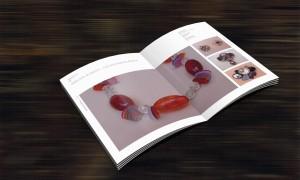 Gestaltung für ein Magazin zur Schmuckgestaltung in der DDR von Gablona