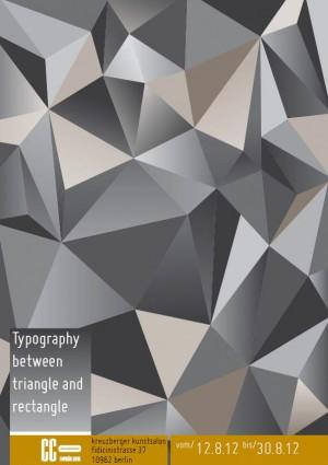 Typografie für eine Ausstellung zum Thema Buchstaben
