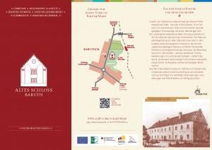 Gestaltung verschiedener Faltblätter für das Objekt »Altes Schloss Baruth«  Entwicklung einer ganzheitlichen Bild-, Form- und Farbsprache