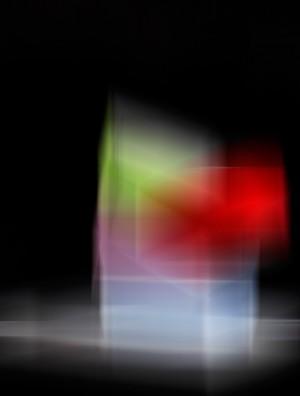Streifen in Rot und blau, Öl, Acryl auf Leinwand, 105 x 150 mm, Ralf K. Röttjer