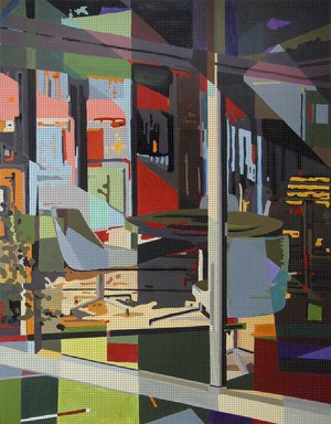DEF_Room_185, Öl auf Leinwand, 125 x 200 mm, Ralf K. Röttjer