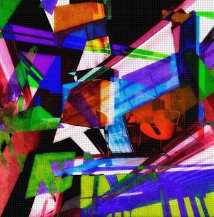 DEF_Room_263, Öl und Acryl auf Leinwand, 200 x 200 mm, Ralf K. Röttjer