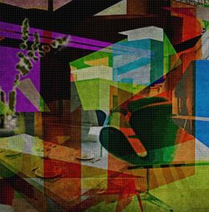 DEF_Room_272, Öl und Acryl auf Leinwand, 200 x 200 mm, Ralf K. Röttjer