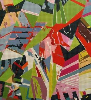 DEF_Room_277, Öl und Acryl auf Leinwand, 190 x 200 mm, Ralf K. Röttjer
