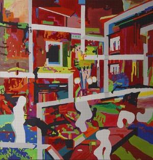 DEF_Room_344, Öl und Acryl auf Leinwand, 190 x 200 mm, Ralf K. Röttjer