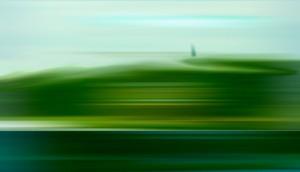Grünsehbild, Öl, Acryl auf Leinwand, 150 x 105 mm, Ralf K. Röttjer