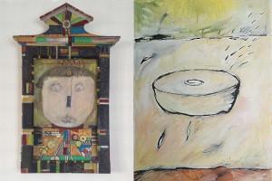 Der russische Prinz, Öl auf Holz (links), Bewegung (rechts), Öl auf Leinwand, Ralf K. Röttjer