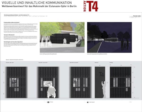 Tiergarten-Entwurf für ein Mahnmal T4
