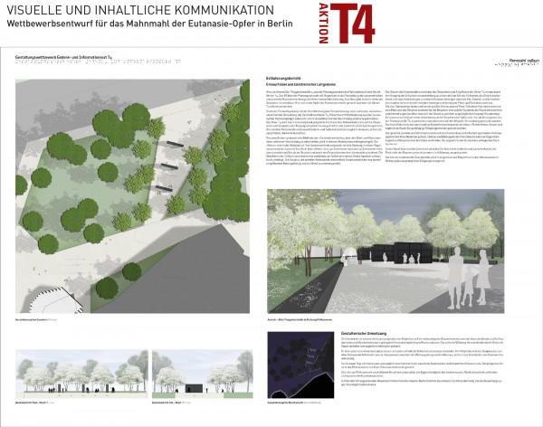 Berlin Tiergarten-Entwurf für ein Mahnmal T4
