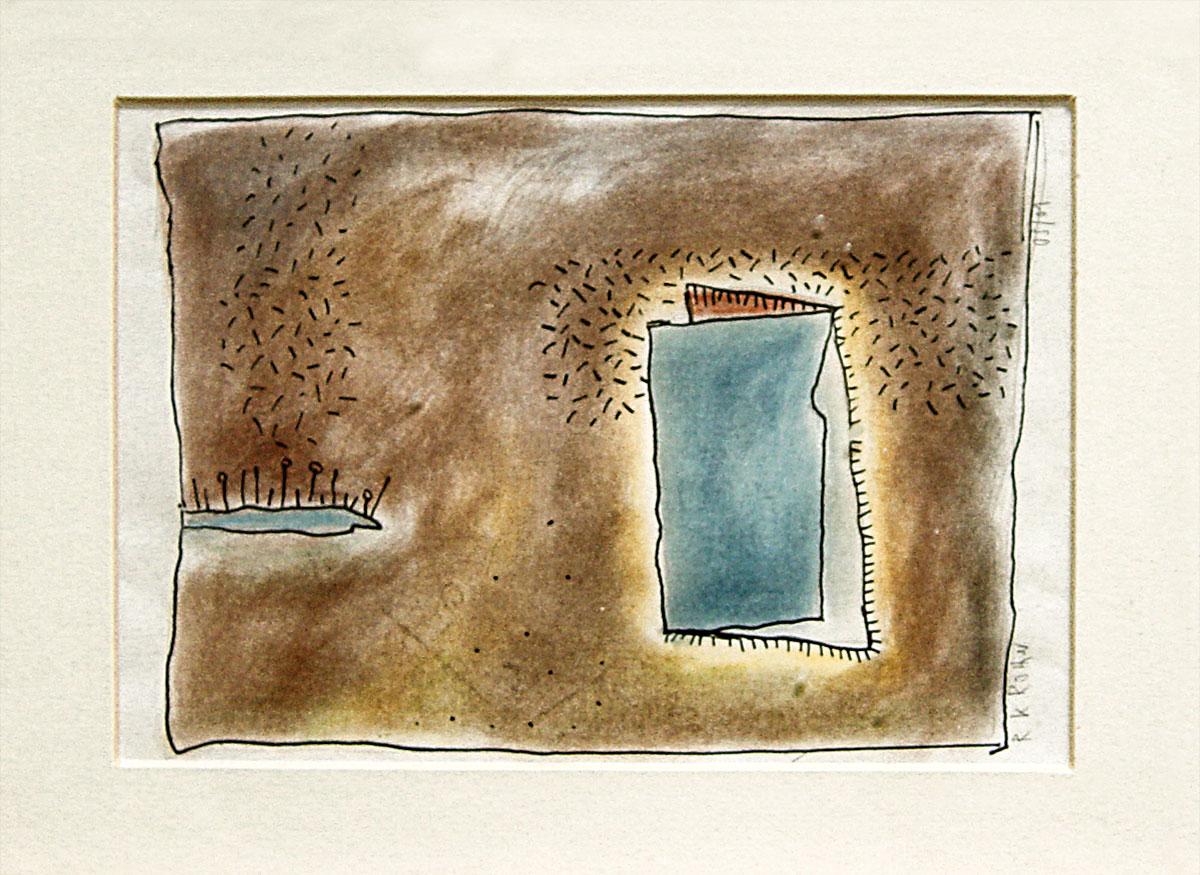 Ein Summen an der Tür zeichnungen von Ralf K. Röttjer