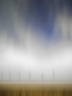 Nebelregenschwadenmeerlandschaft, Öl, Acryl auf Leinwand, 105 x 150 mm, Ralf K. Röttjer