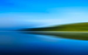 Blaues Fernweh, Öl, Acryl auf Leinwand, 150 x 105 mm, Ralf K. Röttjer